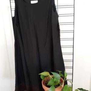 Womens black sleeveless jumper